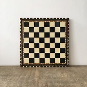 Vintage Wooden Inlaid Chess Board Marquerty Beautiful Wood Pattern Design