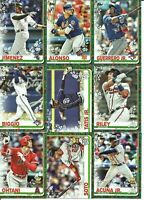 2019 Topps Holiday  Pick Your Player. Complete Your Set. Trout Acuna Base Cards
