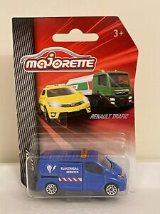 Brand NEW Majorette Blue Renault Trafic Van Electrical Service City Toy Car