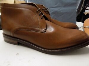 Mens Ex M&S Leather Smart Chukka Lace Up Ankle Boots BROWN UK 11 NEW EX26