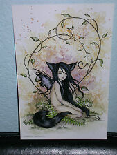 Amy Brown - Little Wolf Sister - Mini Print