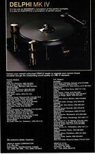 1990 Oracle Delphi MK IV Turntable Hi-Fi Stereo Vtg Print Ad