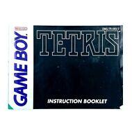 Notice GameBoy Tetris Nintendo Game Boy Livret Instruction Manuel PAL UKV