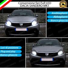 KIT LED DACIA SANDERO 1 KIT LED H4 + LUCI DI POSIZIONE T10 LED CANBUS 6000K