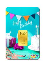 Goldbarren 0,25g Gramm, Happy Birthday (NZP Gold Barren Geburtstag Geschenk) NEU