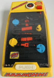 TOMY AAAAGHH! Vintage 1980s Electronic Ball bearing Skill game Yellow- Working