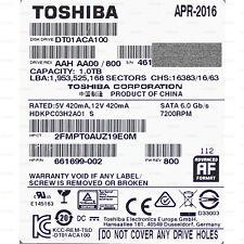 1TB Toshiba DT01ACA100 / HDKPC03H2A01 SATA 6Gbs HP 661699-002 3,5 Zoll HDD