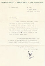 Typed Letter Signed By Paul Horgan - American Pulitzer Prize-winning author