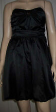 DOROTHY PERKINS Black Satin Sleeveless Belted Puffball  Party Dress Size 10