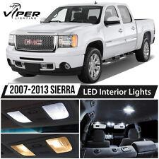 White LED Interior Lights Package Kit for 2007-2013 GMC Sierra 1500 2500 3500