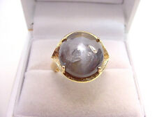 HUGE RARE NATURAL ALEXANDRITE CATSEYE 11.05 CTS  PRETTY COLORS 14K GOLD RING