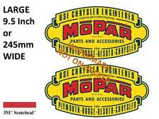 2 x VINTAGE MOPAR CHRYSLER  DODGE DECAL STICKER LABEL 230 X 120 mm HOT ROD