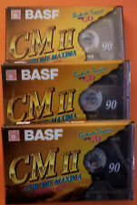 10 K7 cassettes BASF Maxima cm II 90 minutes neuves sous blister Chrome
