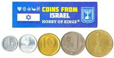 5 Israeli Coins Different Collectible From Middle East Coins Foreign Currency