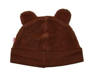 NEW Zutano Baby Girl Boy Aqua Brown Pink Red Fleece Hat Bear Ears 6 12 18 24 NWT