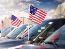 USA Cloth Antenna Flag {EZ415} Pack of 12, American Flag for Cars and Trucks