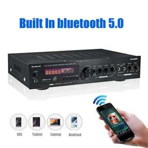 Sunbuck 2000W Bluetooth 5.0 Audio Power Amplifier Home Theater Amplificador 220V