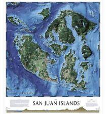 New ListingTahoe Maps Presents San Juan Islands Pictorial Map Laminated Poster 24�x28�