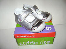 NIB Stride Rite BUTTERCUP Toddler Girls Dressy Shoes sz 6 M SILVER VERY CUTE