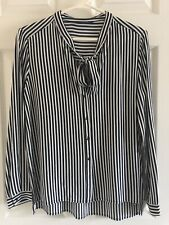 Zara Woman Striped Bow Blouse Size M (Brand New, with Tags)