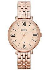Runde Fossil Armbanduhren aus Edelstahl für Damen