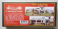STORM LAKE MOBIL GAS STATION KIT 1:87 HO SCALE DIORAMA LAYOUT JL INNOVATIVE 431