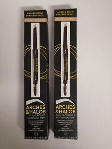 2-Arches & HALOS Tonya Crooks Angled Brow Shading Pencil with Brush-Sunny Blonde