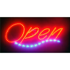Bright LED OPEN Sign Animation Motion Rectangular Shape On / Off  Pull Chain