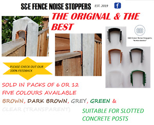 FENCE NOISE STOPPERS (BAG of 12) *CHOICE OF 5 COLOURS* - STOPS RATTLING