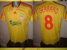 """Liverpool Adidas Top Shirt Jersey Soccer Euro Boys L 32-34"""" 13yrs Steven Gerrard"""