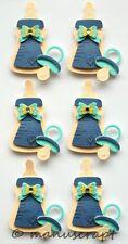 Artoz Artwork 3D-Sticker, Babyflasche blau, Geburt