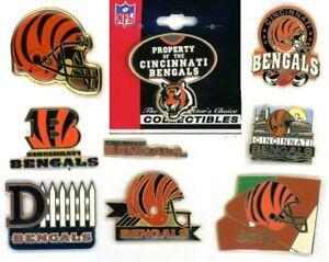 Bengals Vintage Pin Choice 8 Pins one new on card Cincinnati NFL Coca-Cola