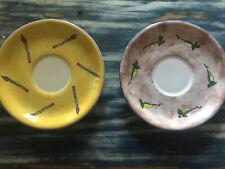 New listing Bois d'arc Essex Collection Tutti Frutti 2 Saucers Asparagus & Peas Mint Cond