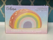 NEW UNICORN BELIEVE KIDS BEDROOM CERAMIC RAINBOW PROJECTS STARS LIGHT