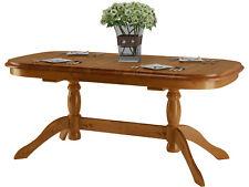 Vintage Esstisch Tisch Küchentisch Säulentisch Landhaus antik oval Kiefer massiv