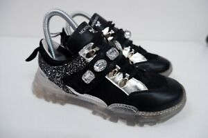 Monnalisa Girls Sneakers, Trainers, Shoes, Uk 2 Eu35, Black