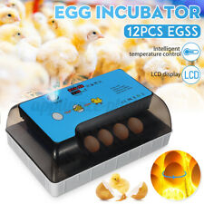 Digital 12 Eggs Incubator Chicken Duck Auto Intelligent Temperature Control