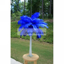 Blue Ostrich Feather Centerpieces 6 Sets ( Ga, Usa)