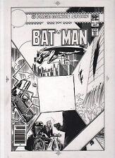BATMAN # 328 Transparency Cover art by Joe Kubert Comic Art