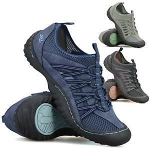Womens Slip On Memory Foam Casual Walking Sports Adventure Trainers Shoes Size