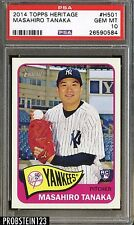 2014 Topps Heritage #H501 Masahiro Tanaka Yankees PSA 10 GEM MINT