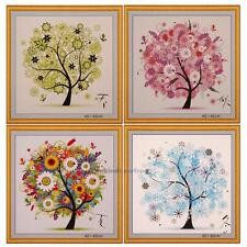 DIY Colorful Four Season Tree Counted Cross Stitch Kit Embroidery Home Art Decor