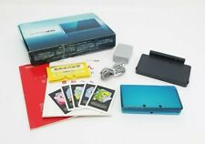 Nintendo 3DS Console Aqua Blue w/ Charger and Box From Japan [Excellent]