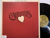 Carpenters – A Song For You LP 1972 A&M Records – SP 3511 EX/NM