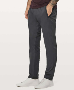 "Lululemon Men's Unlined Great Wall Pant Size XL Melanite Gray Inseam 32"""