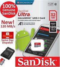 SanDisk 32GB Ultra Class 10 Micro SD SDHC Memory Card & Adapter - Phone/Dash Cam