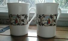 TWO...Beautiful...XMAS....NOEL MUGS.....EXCELLENT CONDITION..BERKSHIRE...
