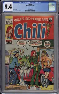 "Chili #2 CGC 9.4 NM Cream-Owp Marvel Comics 1969 ""Wet"" Innuendo Cover + Stan Lee"