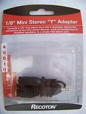 """3.5 mm 1/8"""" Mini Male Stereo Jack  To Y 2 RCA Female Audio Cable Adapter"""