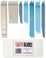 Saxton 20 Reciprocating Sabre Saw Blades Combo Wood & Metal fits Bosch Makita